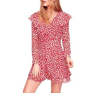 Free People Frenchie Mini Wrap Dress V-Neck NWT